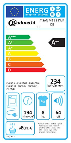 Bauknecht Wärmepumpentrockner/A++ 8kg